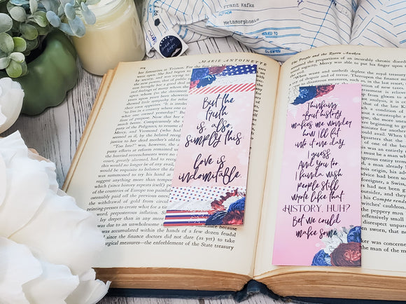 Red, White & Royal Blue Double Sided Bookmark