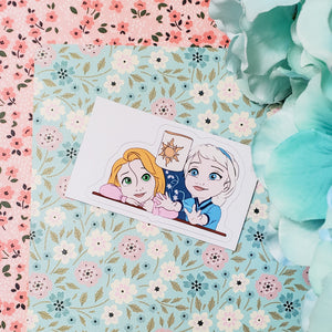 Elsa and Rapunzel Kids Sticker
