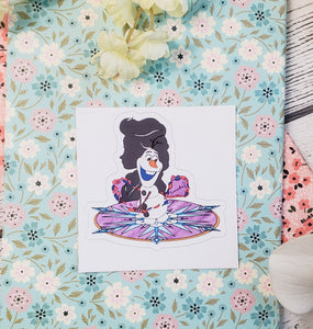 "Olaf and Elsa ""Samantha?"" Sticker"