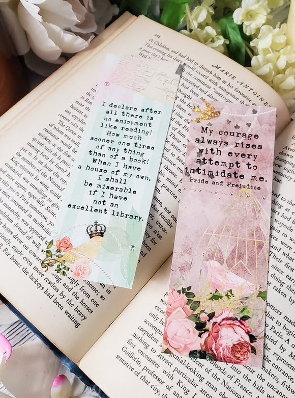 Pride and Prejudice Quotes Double Sided Bookmark