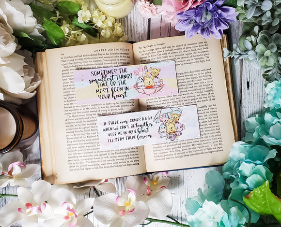 Winnie the Pooh Quotes Double Sided Bookmark
