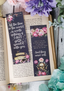 The Shadows Between Us by Tricia Levenseller Quotes Double Sided Bookmark - bibliophileprints