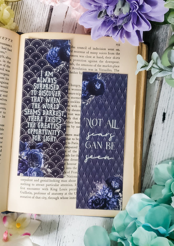 A Curse so Dark and Lonely Quotes Double Sided Bookmark - bibliophileprints