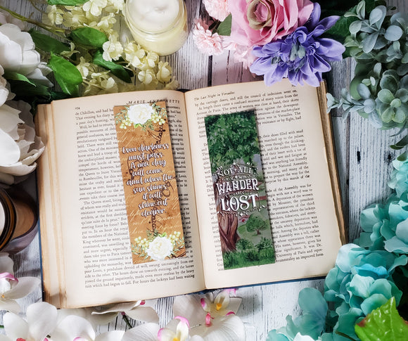 Lord of the Rings Quotes Double Sided Bookmark - bibliophileprints