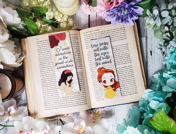 Belle Quotes Double Sided Bookmark - bibliophileprints