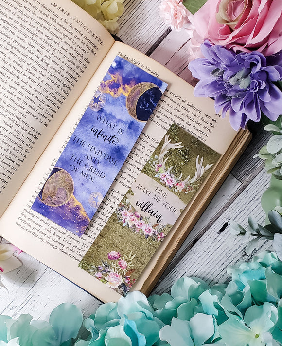 Shadow and Bone Quotes Double Sided Bookmark - bibliophileprints