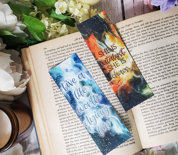 Illuminae Series Quotes Double Sided Bookmark