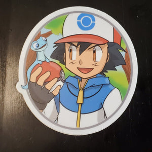 Ash and Bruni Vinyl Sticker