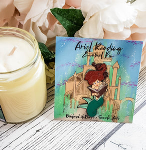 Ariel Reading Enamel Pin - bibliophileprints