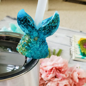 Mermaid Straw Toppers - bibliophileprints