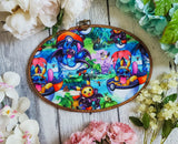 Pokemon, Stitch, and Toothless Pin Hoops