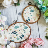 Fairy Garden - White Pin Hoops
