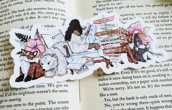 Winter Reading Diecut Bookmark - bibliophileprints