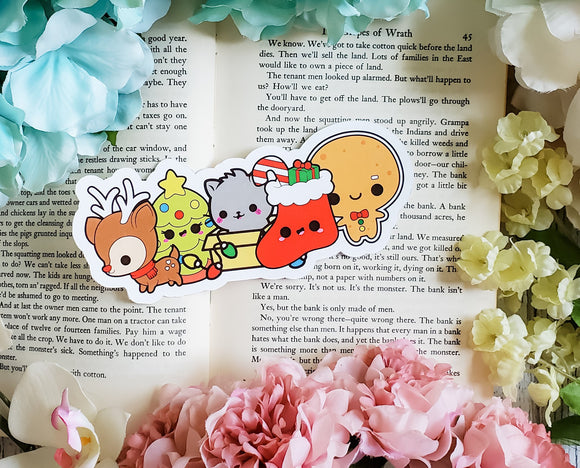 Christmas Kawaii Diecut Bookmark - bibliophileprints
