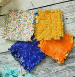 Mixed Color Rag Quilted Coaster Set  - Made by Momma