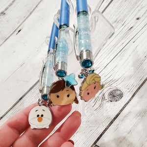 Charmed Frozen Pens -  Glitter Filled Pens