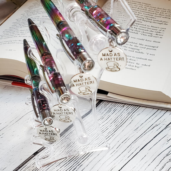 Mad as a Hatter Pen  - Glitter Filled Pens
