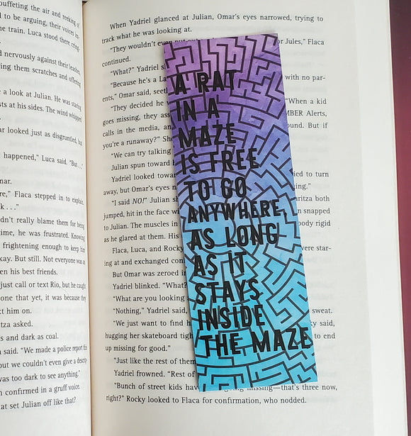 The Handmaid's Tale Bookmark - Rat in a Maze
