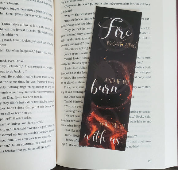 The Hunger Games Bookmark - Fire is Catching