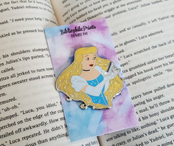 Power Series : Cinderella Enamel Pin and Stickers