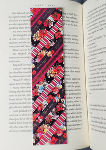Dark Florals Washi Tape Bookmarks with Rose Gold Foiling