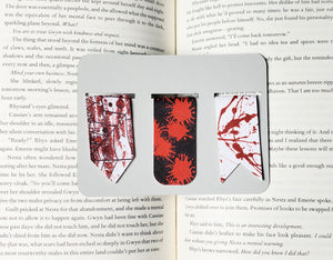 Horror Book Blood Spatter Leather Bookmarks