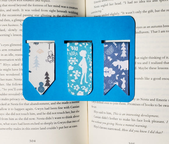 Pooh Bear Patterned Faux  Leather Bookmarks