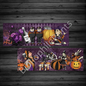 Halloween Classic Alice Double Sided Bookmark