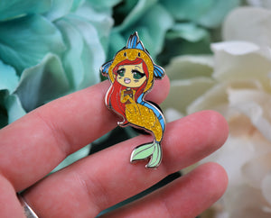 Princesses Read Too - Ariel Enamel Pin