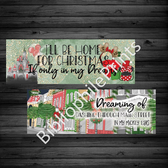 Disney Christmas - Disney World Double Sided Bookmark