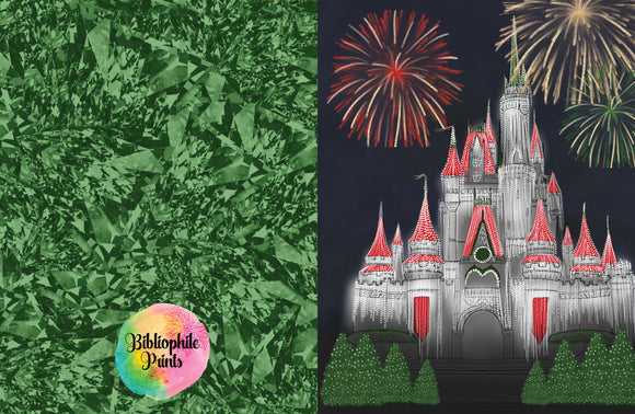 Disney Castle Christmas Greeting Card
