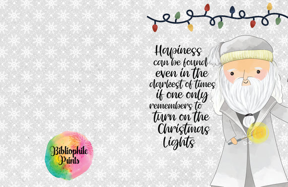 Dumbledore Christmas Greeting Card