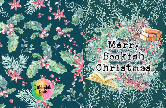 Merry Bookish Christmas Greeting Card