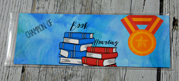 Dollar sale Reading Award Bookmark - Champion of Book Hoarding