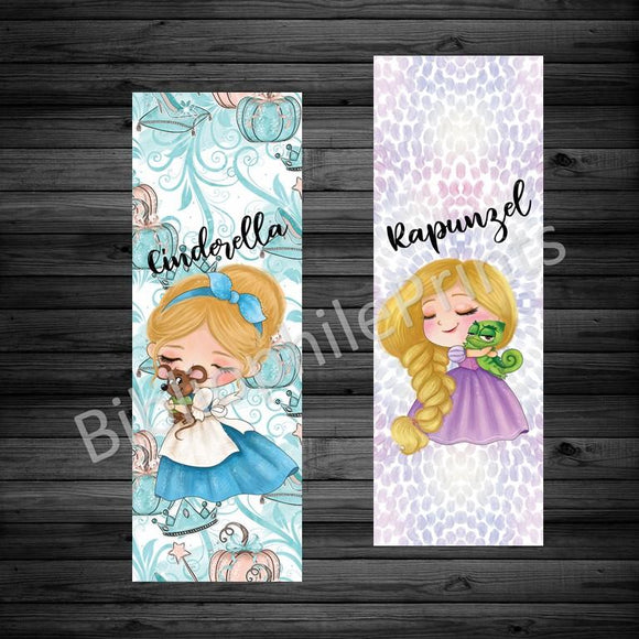 Cinderella Rapunzel Double Sided Bookmark