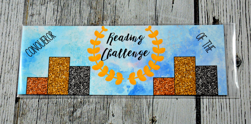 Reading Award Bookmark - Conqueror of the Reading Challenge - RETIRING
