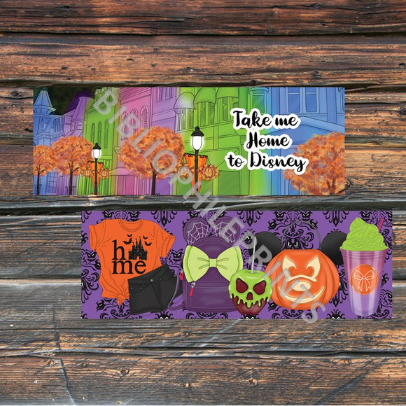 Halloween in Disney Double Sided Bookmark