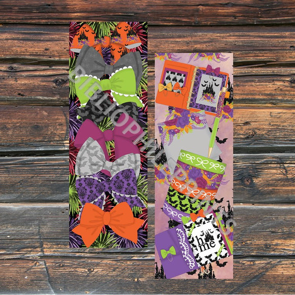 Disney Halloween Planner & Bows Double Sided Bookmark