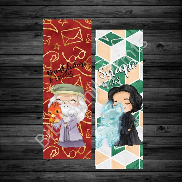 Dumbledore and Snape Double Sided Bookmark - bibliophileprints