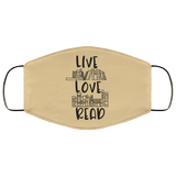 Live Love Read FMA Face Mask - bibliophileprints