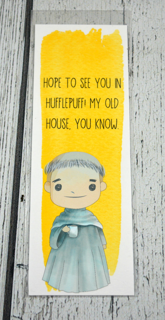 Fat Friar - Hufflepuff Ghost Quote Bookmark
