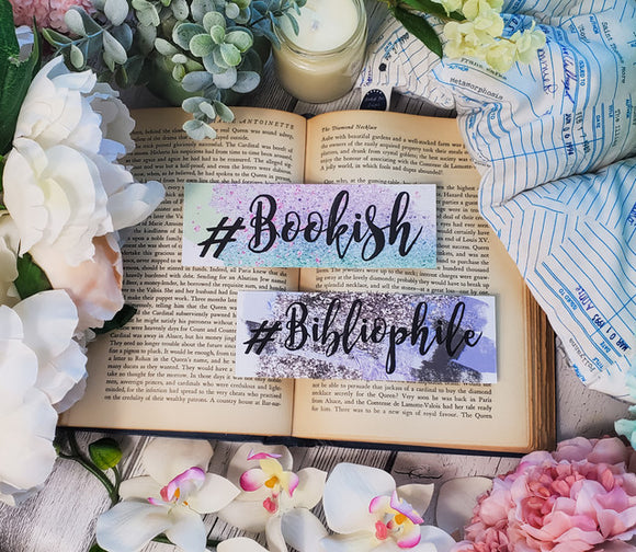 Glam Bookish/Bibliophile Double Sided Bookmark