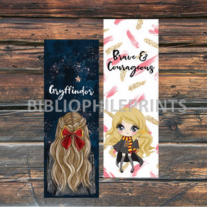 Gryffindor Girl Double Sided Bookmark - Blonde