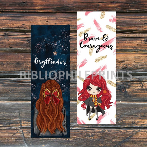 Gryffindor Girl Double Sided Bookmark - Red Head