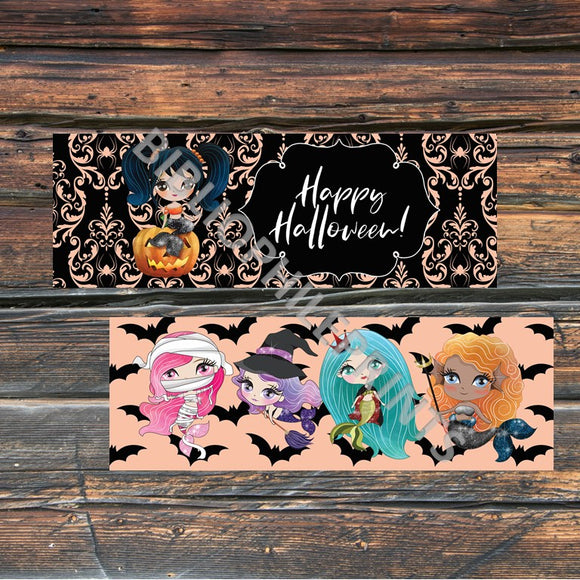 Halloween Mermaids Double Sided Bookmark