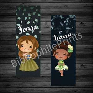 Jane and Tiana Double Sided Bookmark
