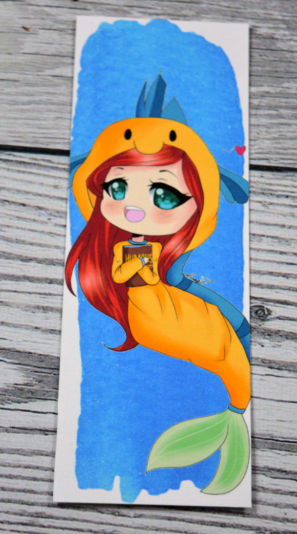 Ariel Bookmark with Art from LilSushiRolls - bibliophileprints