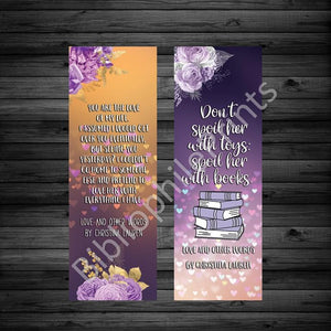 Love and Other Words Christina Lauren  Double Sided Bookmark