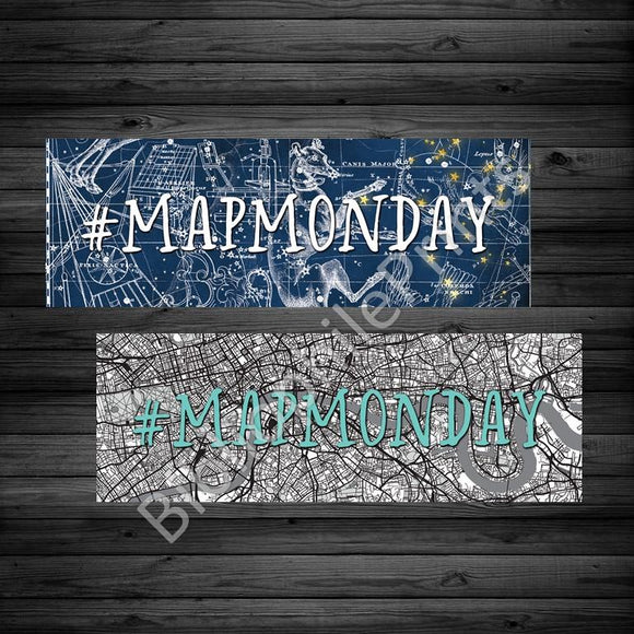 #MapMonday Double Sided Bookmark