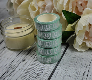 Pastel Slytherin Bow Washi